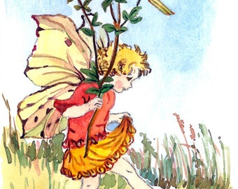 ACEO Limited Edition - The Bird's Foot Trefoil Fairy inspired by CM Barker