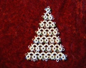 Tatted Beaded Christmas Tree
