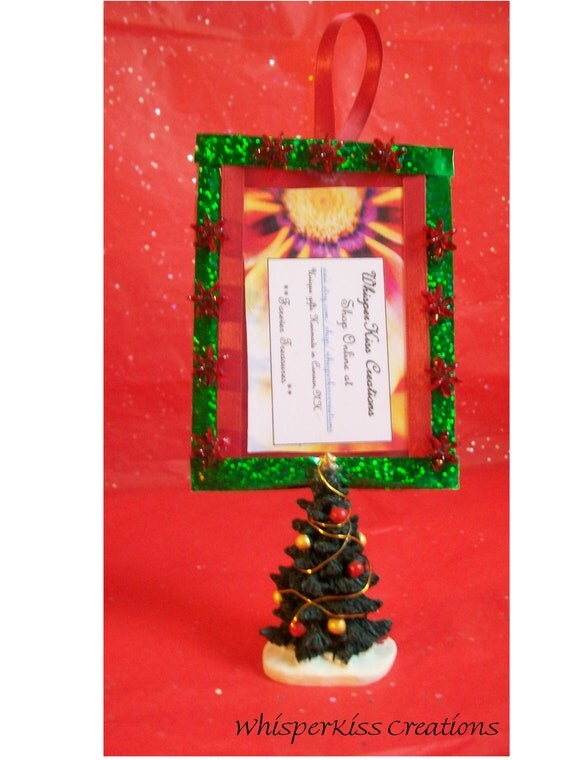 Christmas Tree Ornaments Picture Frames : Christmas tree picture frame ornament in by