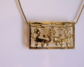 Sale Chinese Dragon Plate Necklace