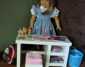 "Bedroom Desk for American Girl doll or other 18"" doll - APRIL SHIPPING"