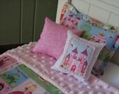 "Princess Bedding Set for American Girl Doll or similar 18"" dolls"
