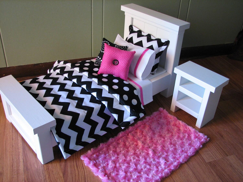 Chevron Bedding Set For American Girl Doll Or Similar 18
