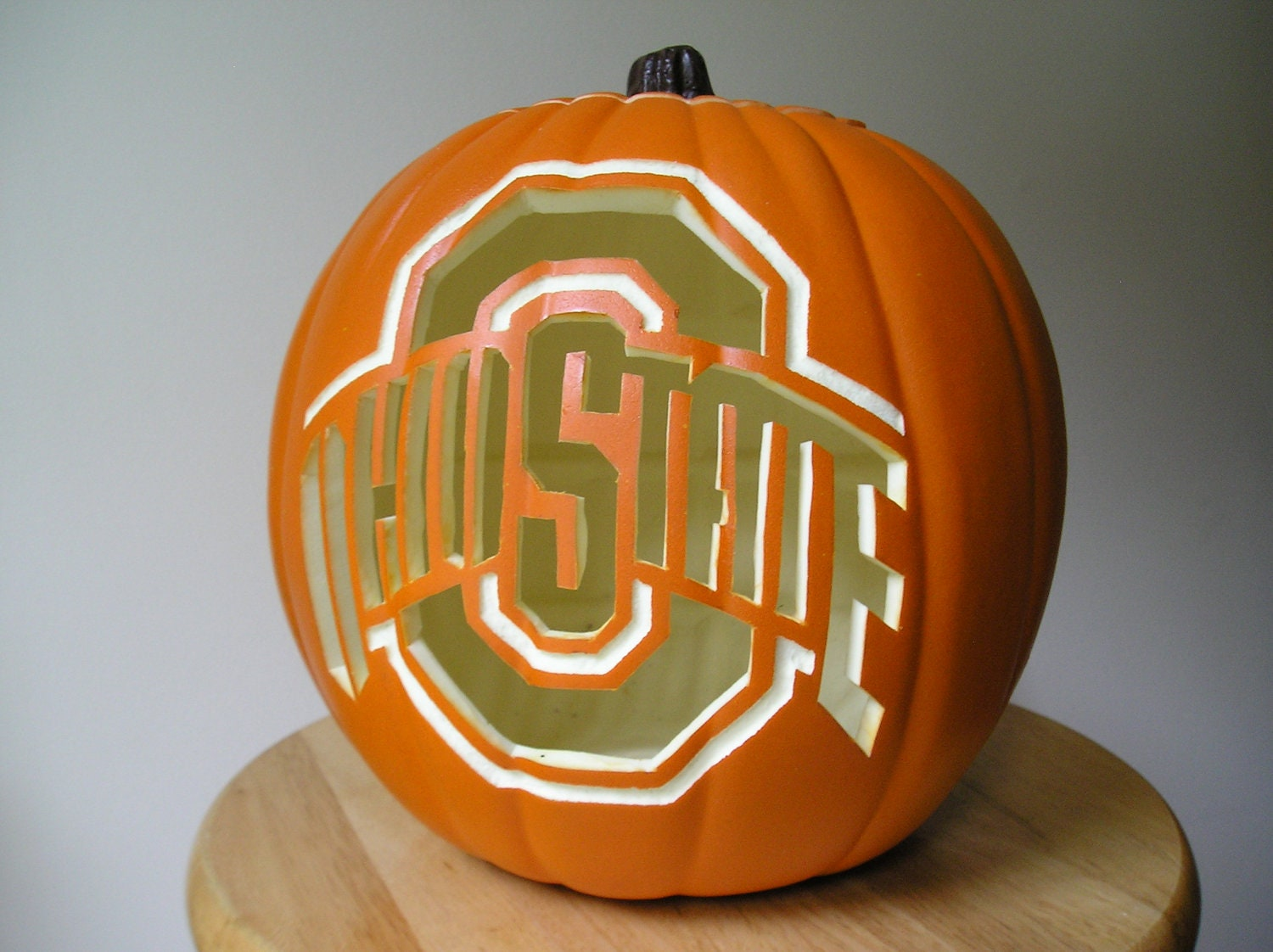 Carved Ohio State Pumpkin