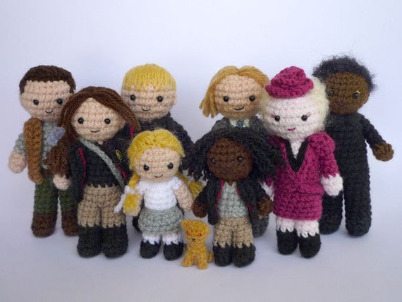 Crocheted Hunger Games characters