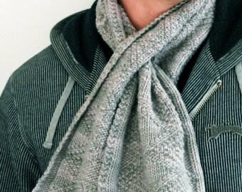 Reversible keyhole scarf PDF knitting pattern