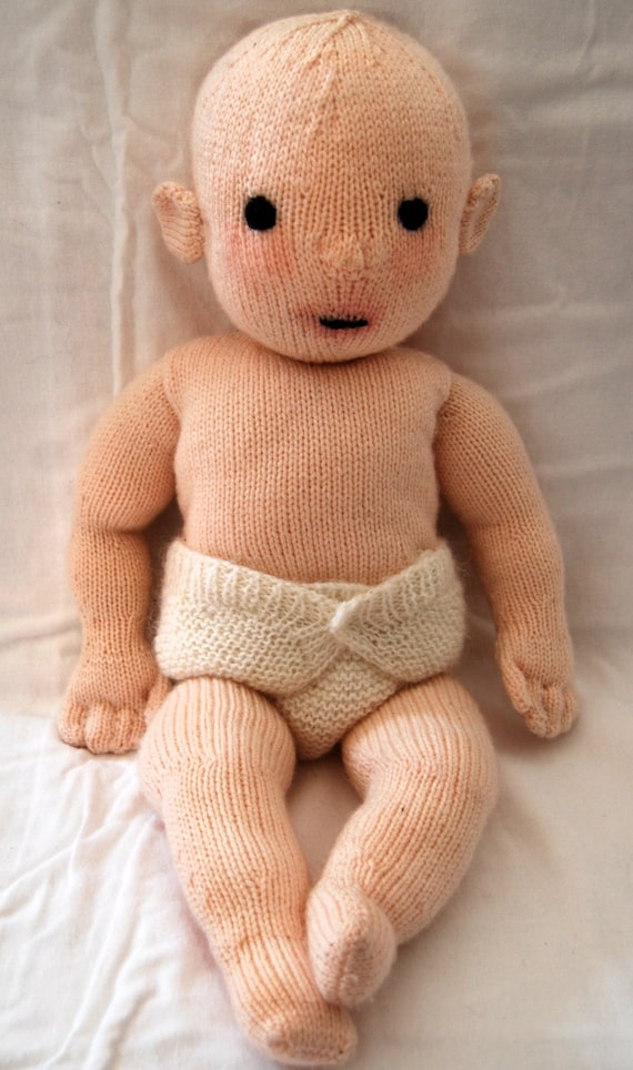 Knitting pattern PDF for Constance doll.