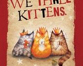 We Three Kittens christmas card