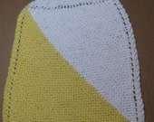 100% Cotton Knitted Towel--Yellow and White
