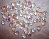 8mm Round CZECH Crystal AB Beads - Pack of 50 - Vintage