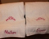 Princess personalized embroidered  bath towel