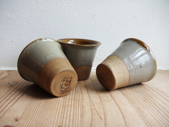 Danish Vintage Three Ceramic Egg Cups