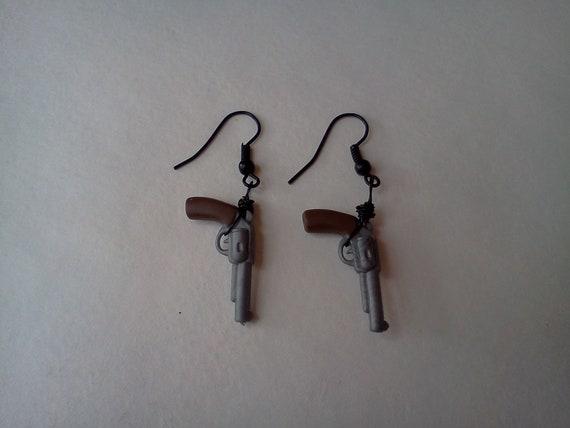 Dual Wield Pistol Earrings