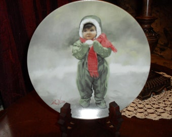 Pemberton and Oakes Winter Angel Collector Plate