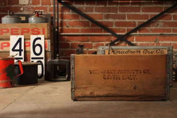 Vintage Industrial Wooden Crate