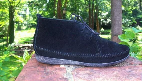 50 off STOREWIDE SALE Ladies Size 7 black suede Minnetonka ankle boho booties