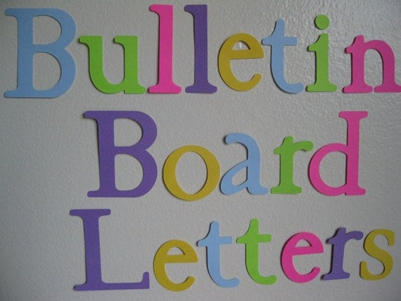 20 30 die cut letters bulletin board letters for Posterboard letters