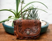 Tiny Tooled Treasure Leather Purse