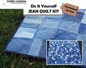 Denim Jean Quilt Kit: Queen Quilt