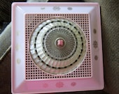 Pink / Gold  Clip / On Light Shade Vintage, Retro and Totally Cool