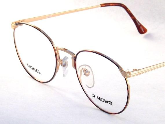 gold wire tortoise shell eyeglasses 80s eyewear womens
