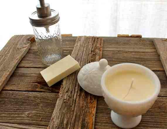 Vintage Milk Glass Soy Candle