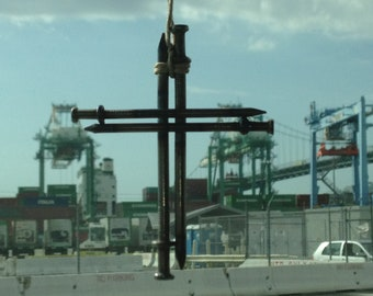 Iron cross pendant