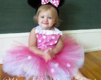 Minnie Mouse Corset Tutu Set  size 12-18m, 18-24m, 2t, 3t, 4t, 5t, 6