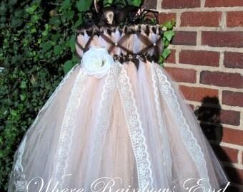 Vintage Lace  - Flower Girl - Tutu Dress sizes 12-18m 18-24m, 2t, 3t, 4t, 5t, 6