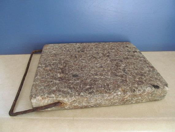 Antique Soapstone Slab With Handle
