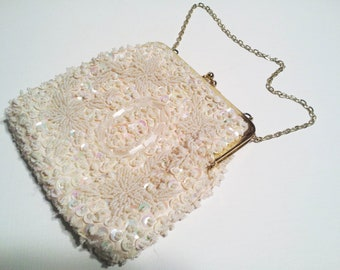Vintage Ladies Walbaeg Beaded Hong Kong Purse