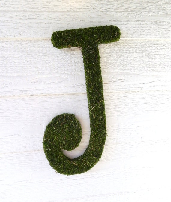 Moss Letters - Rustic Wedding (16'') Moss Monogram (Other Sizes available) A - Z