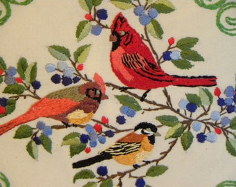 Embroidered Cardinal Etsy
