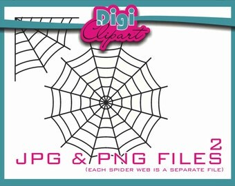 Spider Web Halloween Clip Art (W2 Thick) - INSTANT DOWNLOAD