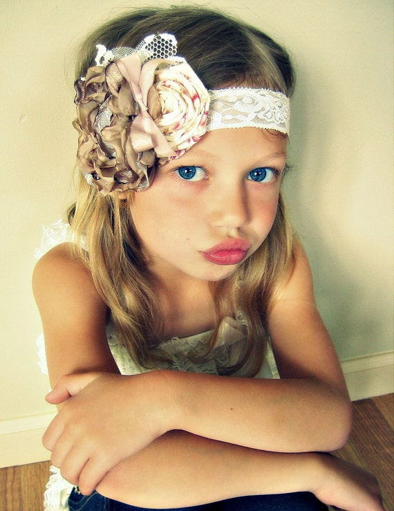 French Couture Inspired Flower Headband