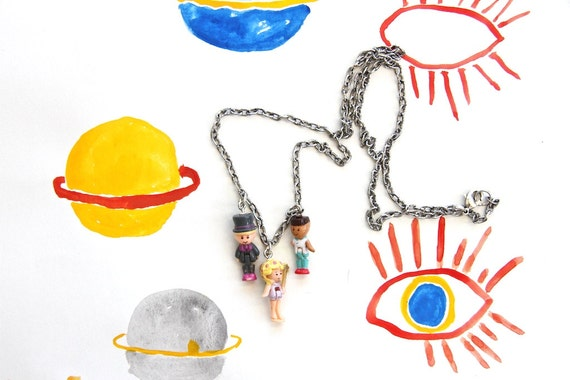 torn between two lovers, polly pocket charm necklace