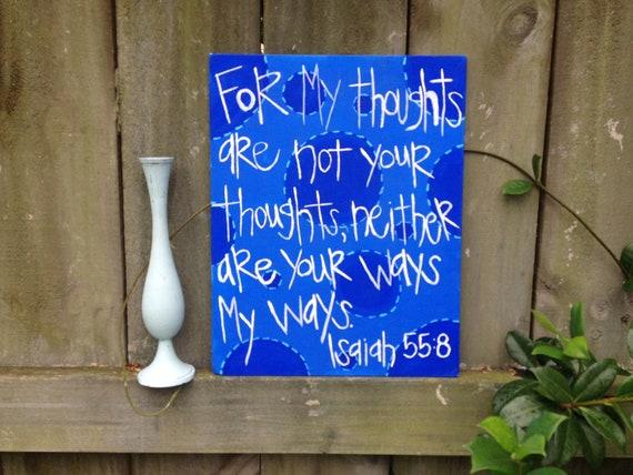 Items Similar To Blue Polka Dots Handmade Isaiah 55:8