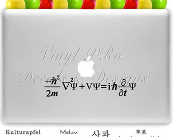 Schrodinger Equation Mathematics Quantum Theory Math Physics Lover Decal for Macbook