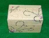 Wedding Recipe Box Wooden Recipe Card Box Decorative Personalized Recipe Box Hand Painted Custom Guest Book Box Roses Bridal Shower Gift