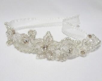 Wedding garter, glittering garter, wedding bridal garter, prom garter, bridal garter
