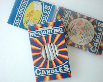 Trick re-lighting candles in beautiful old box
