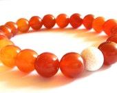 Red Agate Beaded Gemstone Mala/Bracelet Simple Stacker