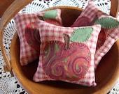 On Sale:  GINGHAM APPLES Bowl Filler Pillow Tucks
