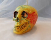 Elemental Day of the Dead Sugar Skull Candle