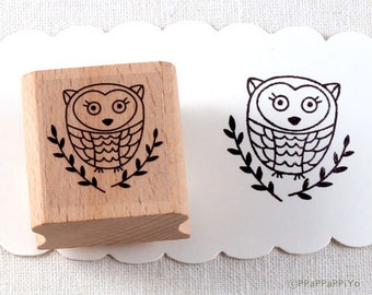 50% OFF SALE Owl Rubber Stamp