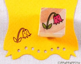 Flower small Rubber Stamp