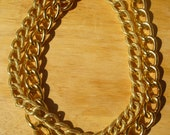 Two Row Gold Link Necklace Worn By Kimberly of Penny Pincher Fashion Blog
