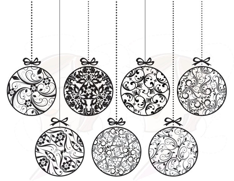 Christmas Ornament Clip Art Black and White 750 x 579 · 109 kB · jpeg
