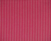 Christmas craft fabric / Red stripes, dark and dusty red / Westfalenstoffe / Patchwork quilting fat quarter
