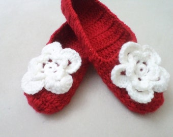 Slippers Socks Shoes  Accessories  Adult Wool Red Crochet Slippers Simply Socks Women slippers house shoes
